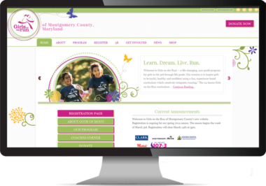 Girls on the Run Web Design by Bethesda Design Web