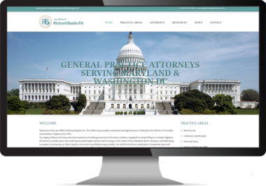 Law Firm Web and Blog Design by Bethesda Design Web